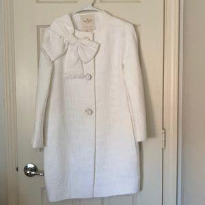 Kate Spade tweed white coat